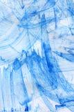Priorità bassa astratta blu dell'acquerello Fotografie Stock Libere da Diritti