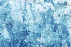 Priorità bassa astratta blu dell'acquerello Fotografia Stock