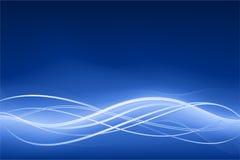 Priorità bassa astratta blu dell'onda con gli effetti al neon Fotografia Stock