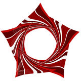Priorità bassa astratta con gli elementi a strisce rossi illustrazione vettoriale