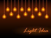 Priorità bassa astratta con gli indicatori luminosi d'ardore Fotografia Stock Libera da Diritti