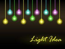 Priorità bassa astratta con gli indicatori luminosi d'ardore Immagine Stock
