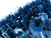 Priorità bassa astratta con i blocchi di plastica blu Fotografia Stock Libera da Diritti