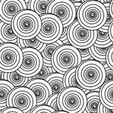 Priorità bassa astratta con i cerchi a spirale Fotografia Stock