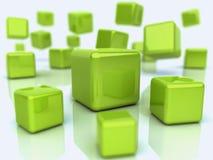 Priorità bassa astratta con i cubi Fotografie Stock Libere da Diritti
