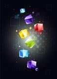 Priorità bassa astratta con i cubi Fotografie Stock