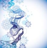 Priorità bassa astratta con i fiocchi di neve Fotografia Stock