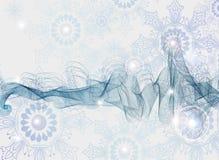 Priorità bassa astratta con i fiocchi di neve Immagine Stock