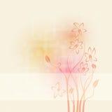 Priorità bassa astratta con i fiori illustrazione di stock