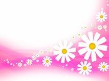 Priorità bassa astratta con i fiori Fotografia Stock