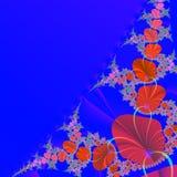 Priorità bassa astratta con i fiori rossi Fotografie Stock Libere da Diritti