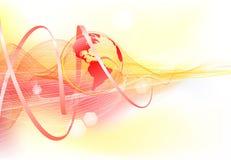 Priorità bassa astratta con il globo del mondo Immagini Stock