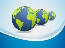 Priorità bassa astratta con il globo della terra Immagini Stock