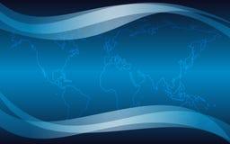 Priorità bassa astratta con il profilo blu del programma - ENV Immagine Stock