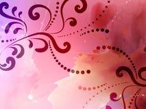 Priorità bassa astratta con il reticolo floreale Fotografia Stock