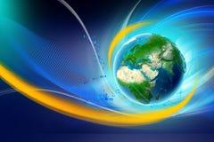 Priorità bassa astratta con la terra del pianeta Fotografia Stock Libera da Diritti