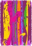 Priorità bassa astratta con le bande multicolori Immagini Stock