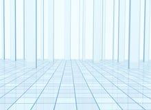 Priorità bassa astratta con le colonne e un pavimento coperto di tegoli illustrazione vettoriale