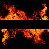 Priorità bassa astratta con le fiamme calde chiare del fuoco Immagine Stock Libera da Diritti
