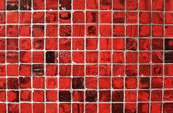 Priorità bassa astratta con le mattonelle rosse Fotografia Stock