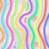 Priorità bassa astratta con le righe colorate Immagini Stock