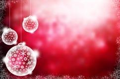 Priorità bassa astratta con le sfere dell'albero di Natale Fotografie Stock