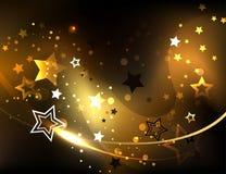 Priorità bassa astratta con le stelle dorate illustrazione di stock