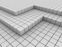 Priorità bassa astratta con parecchi strati del blocco 3d Fotografia Stock Libera da Diritti