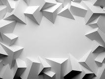 priorità bassa astratta 3d Illustrazione delle pietre geometriche Immagini Stock Libere da Diritti