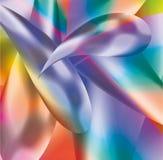 Priorità bassa astratta dalle molecole multi-colored Immagine Stock