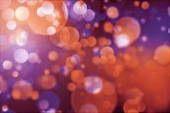 Priorità bassa astratta degli indicatori luminosi di festa. Fotografia Stock