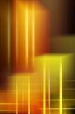 Priorità bassa astratta degli indicatori luminosi gialli fotografia stock