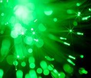Priorità bassa astratta degli indicatori luminosi verdi del punto Fotografia Stock Libera da Diritti