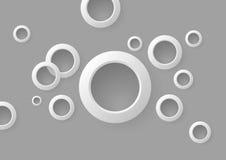 Priorità bassa astratta dei cerchi grigi illustrazione vettoriale