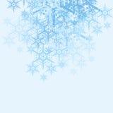 Priorità bassa astratta dei fiocchi di neve Immagini Stock Libere da Diritti