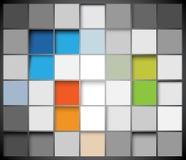 Priorità bassa astratta dei quadrati di vettore Fotografie Stock Libere da Diritti