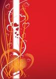 Priorità bassa astratta del biglietto di S. Valentino Fotografia Stock Libera da Diritti