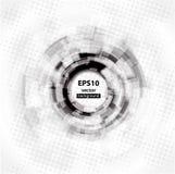 Priorità bassa astratta del cerchio di Techno. ENV 10. Fotografie Stock