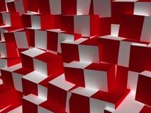 Priorità bassa astratta del cubo Fotografie Stock Libere da Diritti