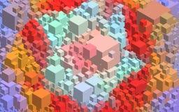 Priorità bassa astratta del cubo illustrazione di stock