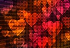Priorità bassa astratta del cuore Fotografie Stock