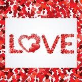 Priorità bassa astratta del cuore con il blocco per grafici Immagine Stock