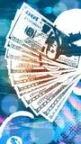 Priorità bassa astratta del dollaro Fotografia Stock Libera da Diritti