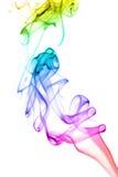 Priorità bassa astratta del fumo del Rainbow immagini stock