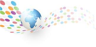 Priorità bassa astratta del globo della terra Immagine Stock Libera da Diritti