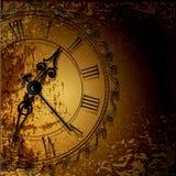 priorità bassa astratta del grunge con gli orologi antichi Fotografia Stock Libera da Diritti