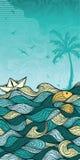 Priorità bassa astratta del mare Immagine Stock