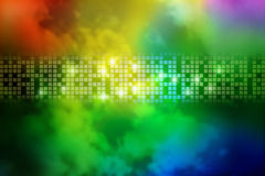 Priorità bassa astratta del quadrato del fumo del Rainbow Immagine Stock Libera da Diritti