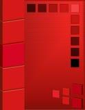Priorità bassa astratta del quadrato rosso Fotografia Stock