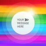 Priorità bassa astratta del Rainbow Modello variopinto a strisce Fondo astratto con il posto per testo Fondo di vettore royalty illustrazione gratis